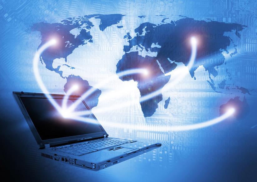 Laptop technology background / © semisatch / Fotolia.com.