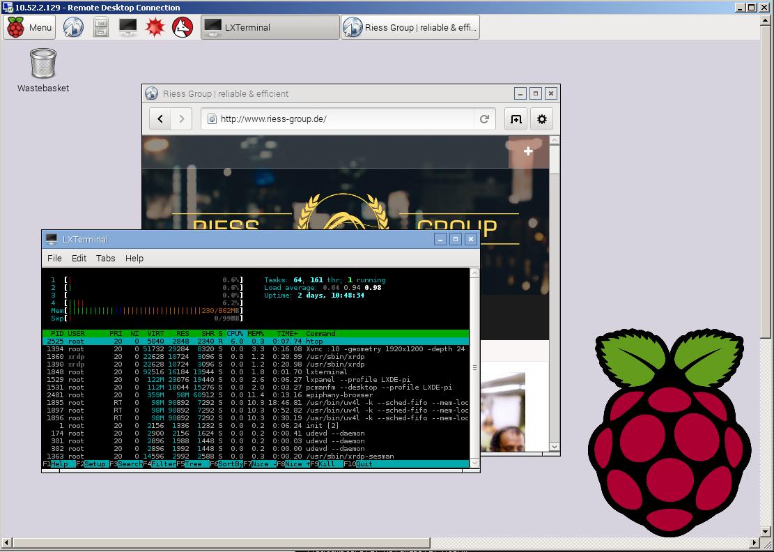 RemoteDesktop Raspberry / © Maximilian Riess / Riess Group.